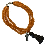 Tri Strand Bracelet with Tassel and Charm